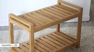 Wood Shower Bench Belham Living Teak Shower Bench Product Review Video Youtube