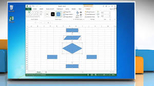 how to make a flow chart in excel 2013 youtube