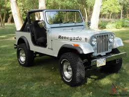 white jeep renegade jeep cj7 renegade fresh two year restoration automatic w only