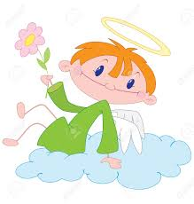 illustration of a angel boy royalty free cliparts vectors and