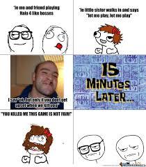 Video Game Logic Meme - little sister video game logic by djalec meme center