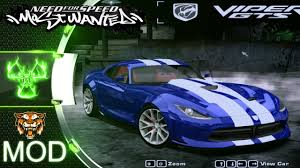 dodge srt viper gts nfs most wanted 2005 mod youtube