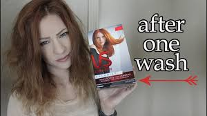 Washing Hair After Coloring Red - does this dye last vidal sassoon intense red copper after one