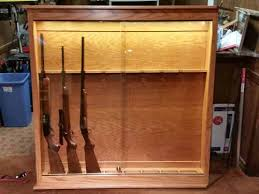 in wall gun cabinet allen amish custom gun cabinets