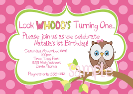 Sample Birthday Invitation Card For Adults Owl Birthday Party Invitations Cimvitation