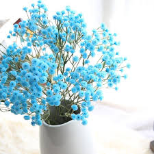 baby s breath flowers blue pink yellow artificial silk flowers baby s breath flower