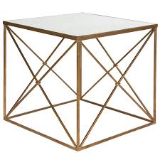 gold metal side table gold cris cross side table modern french