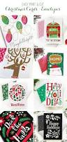easy print and cut christmas cards and envelopes 25 handmade
