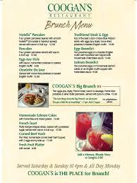menu for brunch coogan s restaurant in washington heightscoogans brunch menu