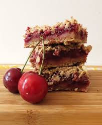 Oatmeal Bars With Chocolate Topping Cherry Pie Crumble Bars Recipe Healthy Oat Bars Oat Bars And