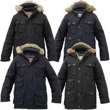 boys parka jacket brave soul coat kids padded hooded fur lined