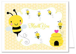 thank you card for baby shower bumble bee baby shower thank you note cards