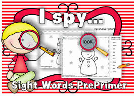 classroom freebies i spy sight words