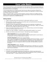 Basics Of A Cover Letter Sample Cover Letter Accountant Resumecover Letter Critique Cover