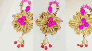 latkan earrings how to make latkan tassels using earrings for indian diy