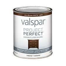 Shop Exterior Stains At Lowes Com by Shop Valspar Project Perfect Java Brown Satin Latex Enamel