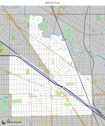 Chicago Neighborhood Maps by Map Of Building Projects Properties And Businesses In Jefferson
