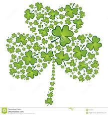 st patrick u0027s day shamrock pattern stock vector image 8134271