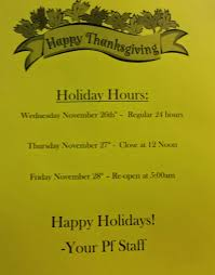 thanksgiving hours yelp