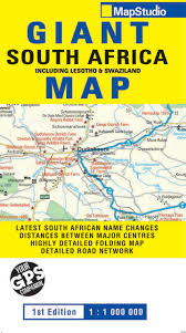 Africa Maps by Giant South Africa Road Map Mapstudio