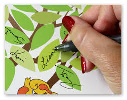 tree signing for wedding idoengravables leaf tree print unframed wedding
