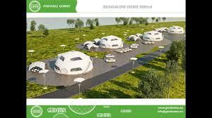 bungalow domes 70 300m2 geodesic camp dome kupolas kupolai