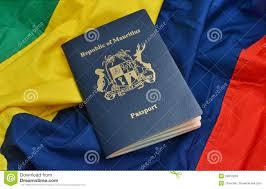 Mauritius Flag Passport Stock Photo Image Of Logo Booklet Places 39810092