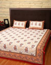 new handmade bedspread brown cotton floral decor indian vintage