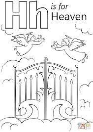 letter h is for heaven coloring page free printable coloring pages
