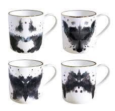 Animal Shaped Mugs Fine Bone China Ink Blot Series Mugs We Love Kaoru