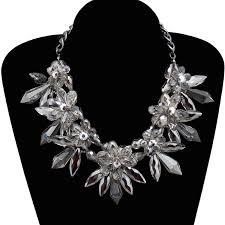 big flower necklace images Big crystal statement necklace images jpg