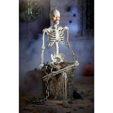 poseable skeleton home accents 5 ft poseable skeleton with led illumination