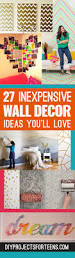 Bedroom Diy Decorating Ideas Cool Cheap But Cool Diy Wall Art Ideas For Your Walls
