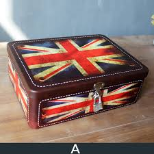 american british flag tin boxes with lock secret rectangle candy