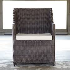 Patio Dining Chairs With Cushions Birch Montclair Patio Dining Chair With Cushion Reviews