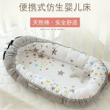 Baby Bed Crib European Portable Crib Baby Comfortable Cot Baby Crib Soft Bed Bb