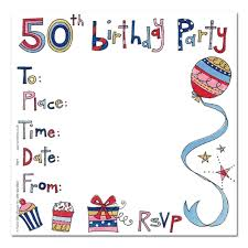 Invitation Cards For Birthday Party 50th Birthday Party Invitations Card Vertabox Com