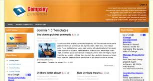 light orange company joomla 1 5 template free