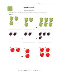 addition math worksheets for ukg kids kidschoolz