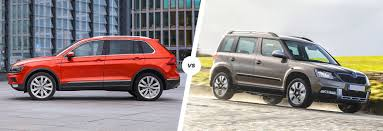 volkswagen tiguan 2016 red vw tiguan vs skoda yeti suv comparison carwow