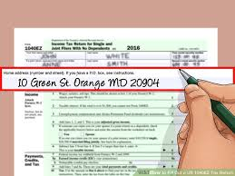 1040ez Tax Table 2014 How To Fill Out A Us 1040ez Tax Return With Form Wikihow