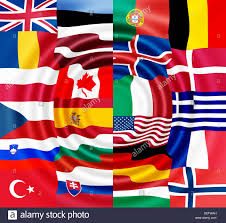 Define Flag National Flags Of The Nato Countries Stock Photo Royalty Free