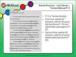 trainee pattern grader overview overview history and purpose of aimsweb and curriculum