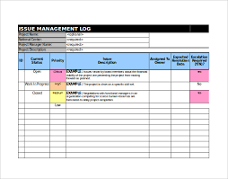 bug report template xls 9 issue tracking templates free sle exle format