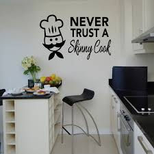 decor cute chef skinny cook kitchen decals for kitchen decoration
