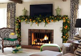 how to decorate a home office robust green garland as wells as mantel surround in living room
