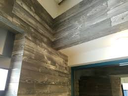 Wall Wood Paneling by Nice Corner Detail Using Our Stonewash Color Prefab Wood Wall