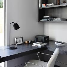 bureau noir et blanc déco élégante en noir et blanc