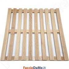 pedana legno tavola in legno per piatto doccia quadra 60x60 cm dianflex