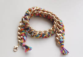 braided bracelet images Diy double wrapped braided chain bracelet jpg